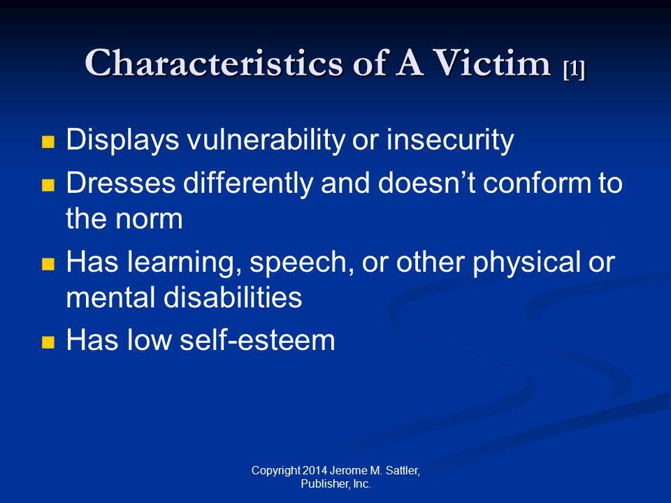 Characteristics of A Victim [1]
